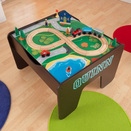 KidKraft 2-in-1 Activity Table - Espresso