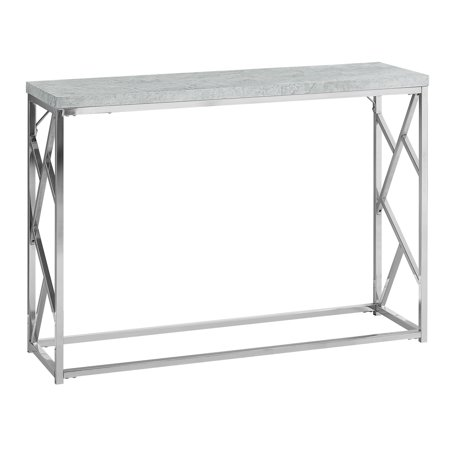 ACCENT TABLE - GREY CEMENT WITH CHROME METAL (Retro 13 Cement Grey)