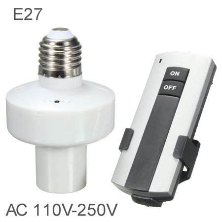 On Clearance E27 Screw Lighting Lamp Bulb Holder Socket Switch Wireless Remote Control Switch Cap Socket Switch Converter Splitter Adapter