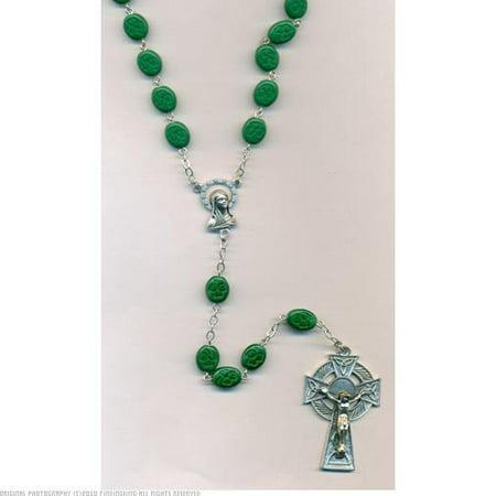 Irish Rosary with Shamrock Beads 7mm