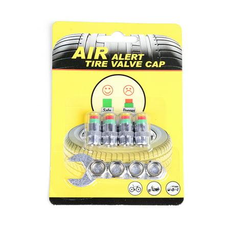 4Pcs/Set High Precision Automobile Car Tire Pressure Monitor Tire Valve Stem Caps Sensor Indicator Tire Pressure Alert Warning Cap 2.0 Bar/2.2 Bar/2.4 Bar - image 7 of 7