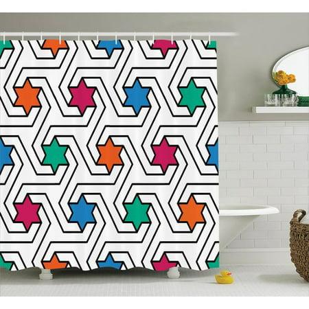 Phenomenal Ebern Designs Melissa Colorful Star On Abstract Pop Art Geometric Pattern Modern Teen Room Rock Punk Print Single Shower Curtain Download Free Architecture Designs Ogrambritishbridgeorg