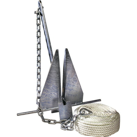 Pulley Shackle - Tie Down Engineering Super Hooker Anchor Kit Includes Anchor, Anchor Line, Anchor Chain and 2 Shackles
