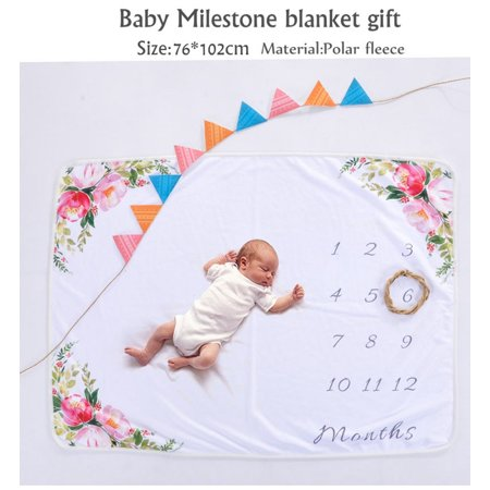 ad1dc3ebb Baby Blanket Printed Polar Fleece Baby Milestone Blanket Photography ...