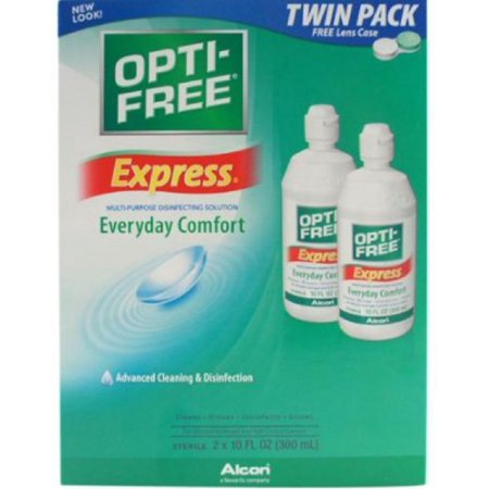 OPTI-FREE Express Advanced Cleaning & Disinfection 2 x 10 FL oz (Pack of 3)