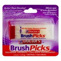 The Doctor's Brush Picks Interdental Toothpicks - 120 CT