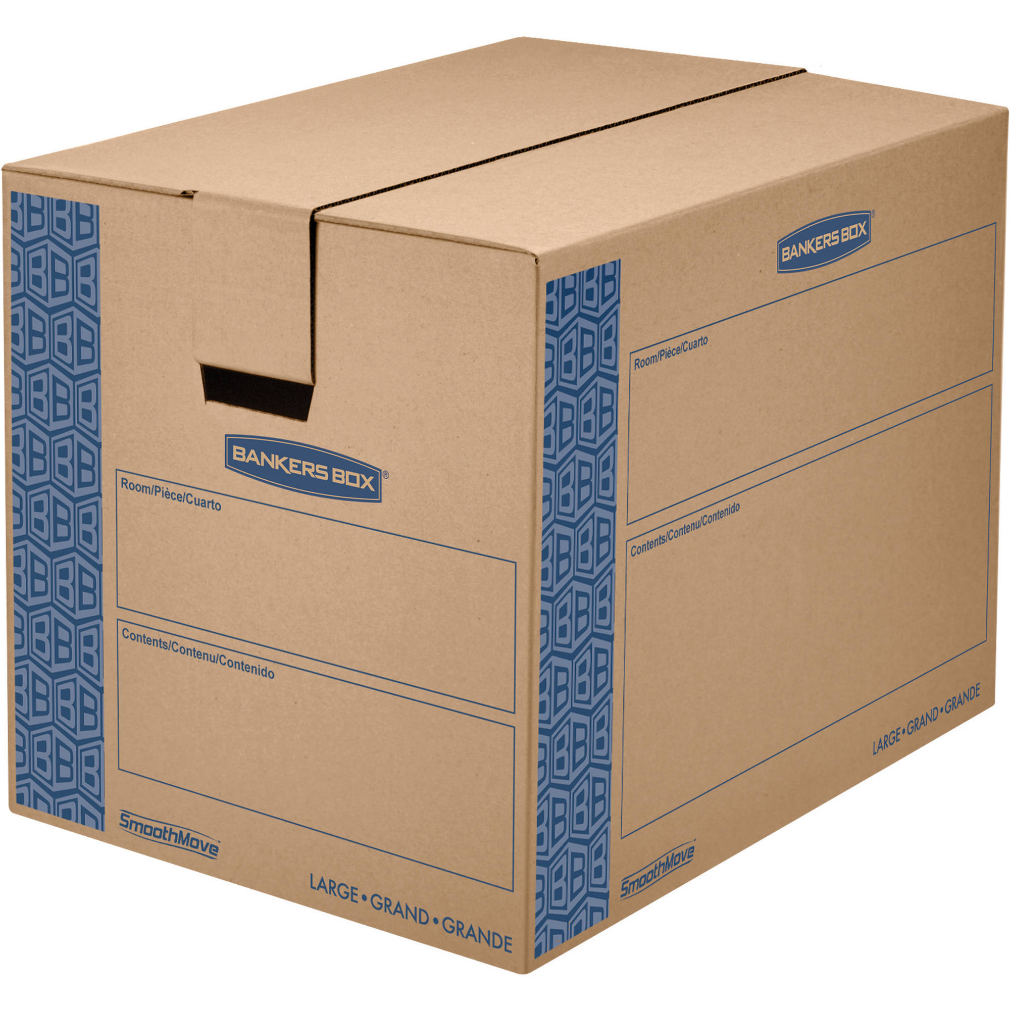 Bankers Box SmoothMove Prime Moving Box, Large, 6pk