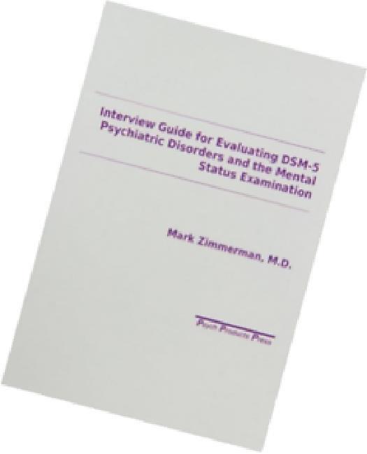 interview guide for evaluation of dsm iv disorders walmart com rh walmart com