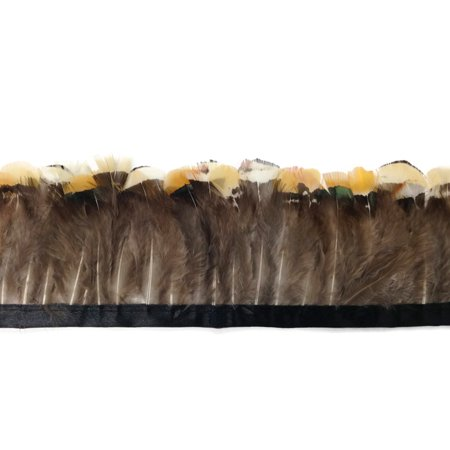 1 Yard - Yellow Lady Amherst Pheasant Plumage Feather Trim