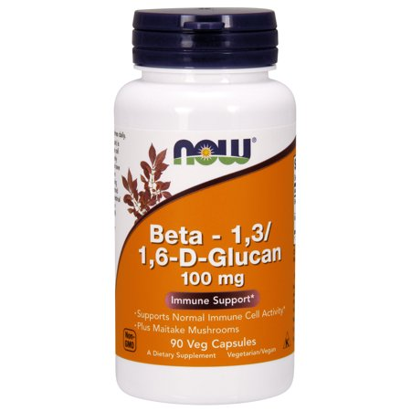 Maitake Defense (NOW Supplements, Beta 1,3/1,6- D-Glucan 100 mg with Maitake Mushrooms, 90 Veg Capsules )