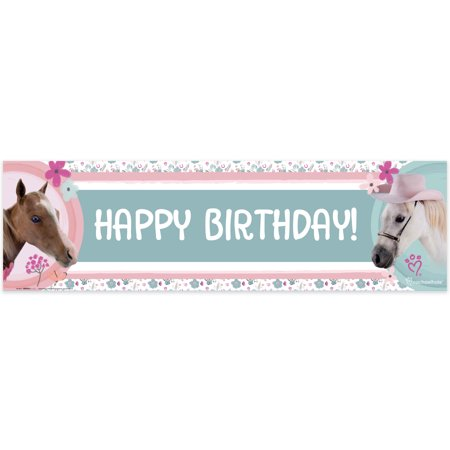 Rachael Hale Beautiful Horse Birthday Banner - Horse Birthday
