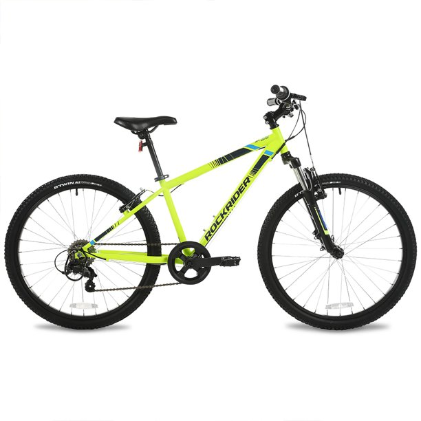 "Btwin by DECATHLON - Mountain Bike ST 500 - 24"" - Yellow - Kids"
