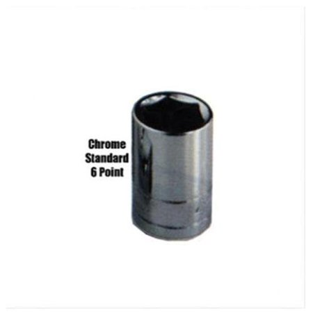 3 8 Drive Standard 6 Point Chrome Socket 15mm