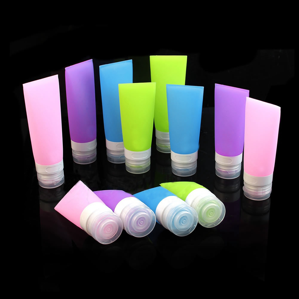 Girl12Queen Empty Silicone Travel Bottle Lotion Shampoo Cosmetic Tube Container Portable