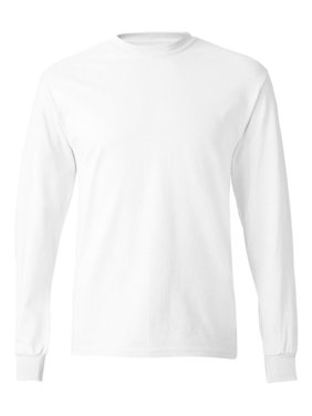 Hanes TAGLESS Men`s Long-Sleeve T-Shirt - Best-Seller, 5586, 2XL