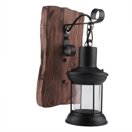 Iron Porch Light - Yosoo Wall Sconce, Antique Vintage Iron Wall Mount Light Lamp Shade Black Pendant Lighting Fixture for Indoor Dining Room Hallway Corridor Porch Bar Light Fixture Decor
