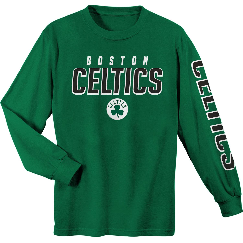 Youth Kelly Green Boston Celtics Team Wordmark Long Sleeve T-Shirt