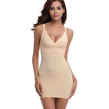 3da0635d94f LELINTA - LELINTA Full Slips for Women Under Dresses Shapewear Slimming  Full Shaping Control Body Shaper Deep V - Walmart.com