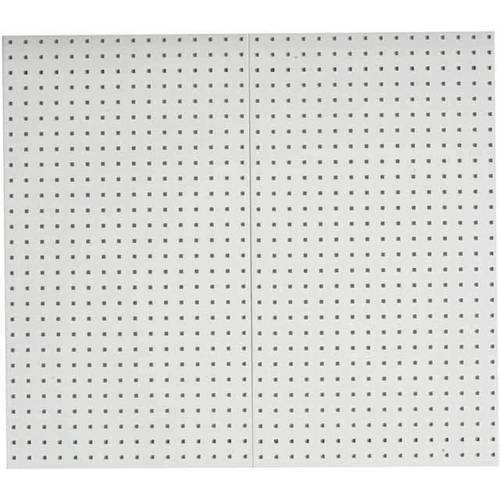 "LocBoard (2) 24""W x 42-1/2""H x 9/16""D Epoxy, 18 Gauge Steel Square Hole Pegboards"