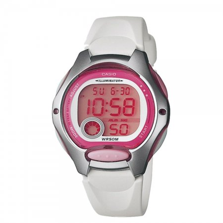 Casio LW-200-7A Ladies Wht Band Pnk Face/sports W