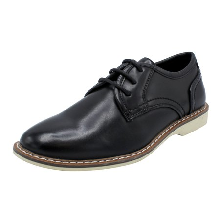 Egan-01 Boys Dress Shoes Lace Up or Buckl Formal Casual Comfortable Dress Black