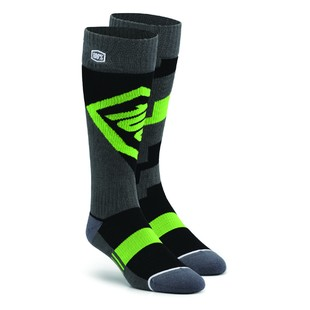 100% Torque Riding Socks Green/Black/Gray