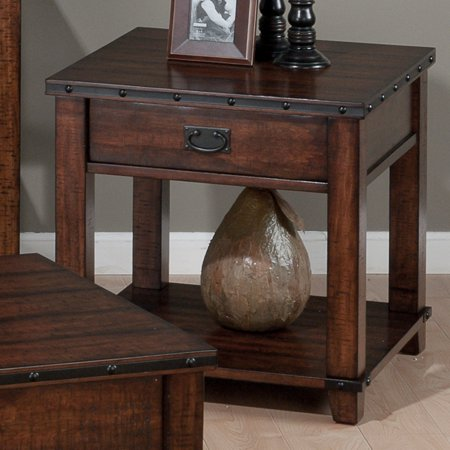 Jofran Cassidy End Table - Burnished Brown