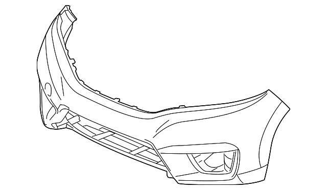 Genuine Oe Honda Bumper Cover 04711 T5r A00zz