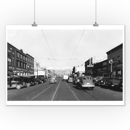 Yakima Wa View Of Yakima Ave Photograph 12x18 Art Print Wall Decor Travel Poster