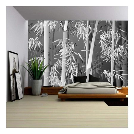 wall26 - Bamboo forest - Removable Wall Mural | Self-adhesive Large Wallpaper - 66x96 inches - Bamboo Wall Murals