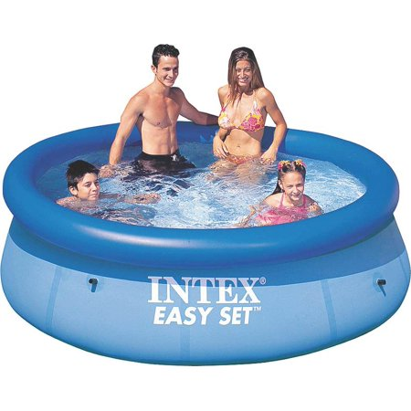 intex 8 39 x 30 easy set inflatable above ground swimming pool 28110e. Black Bedroom Furniture Sets. Home Design Ideas