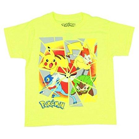 Pokemon Character Shatter Boys Shirt (XS (4/5)) - Pokemon Boy Characters