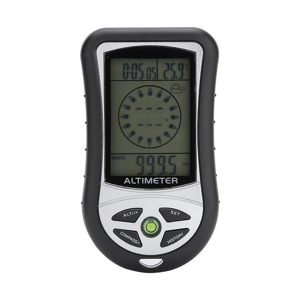Ashata Black Multi-function Digital Altimeter Barometer Compass Weather Forecast For Outdoor Hiking, Digital Altimeter,... by