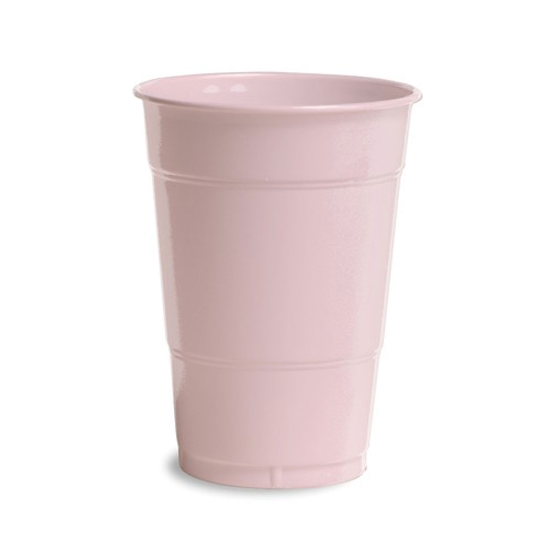 16 oz Solid Plastic Cups Classic Pink/Case of 240