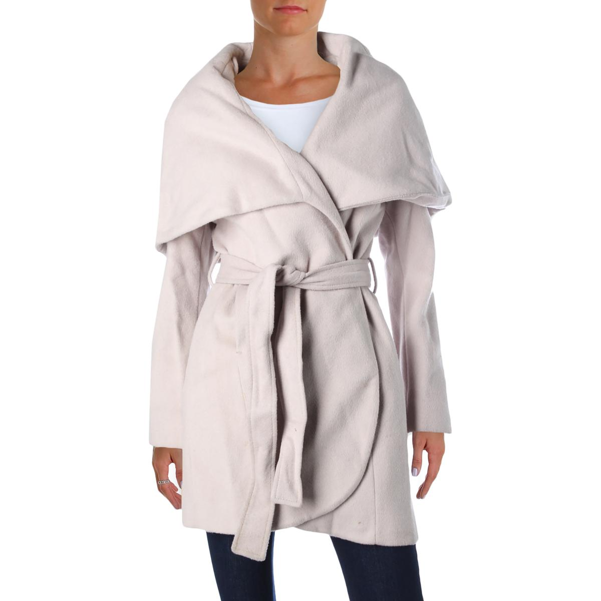 T Tahari Womens Marla Wool Shawl Collar Coat by T Tahari