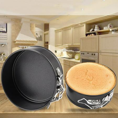 【MIARHB】 Mini Round Cake Tin Non Stick Spring Form Loose Base Baking Pan Tray Round Mini Tin