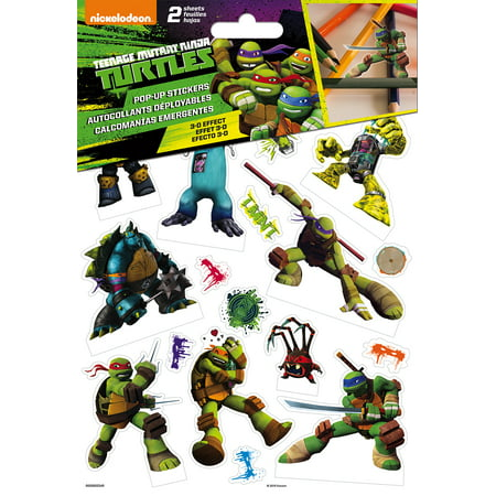 Ninja Turtle Marshmallow Pops (Teenage Mutant Ninja Turtles Pop Up Stickers - 2)