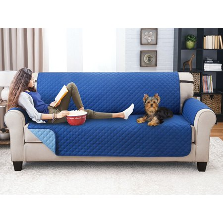 Deluxe Reversible Sofa Furniture Protector Blue Light
