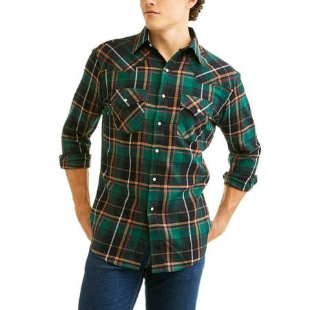 Plains Men's 4.5 oz. Flannel Snap Western Shirt