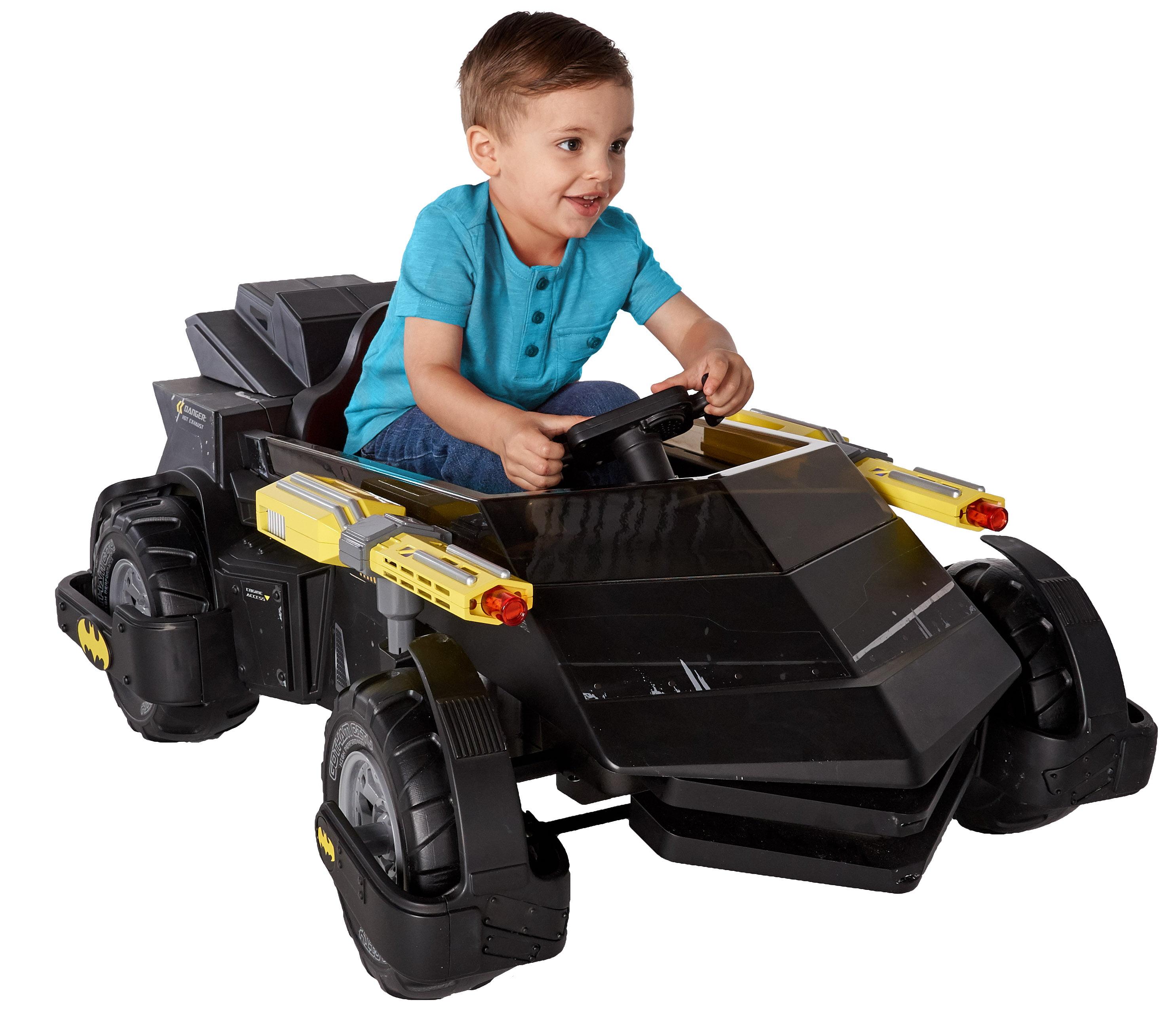 6 Volt DC Comics Batman Batmobile Battery Powered Rideon - Features Light up Cannons and Sounds! - Walmart.com