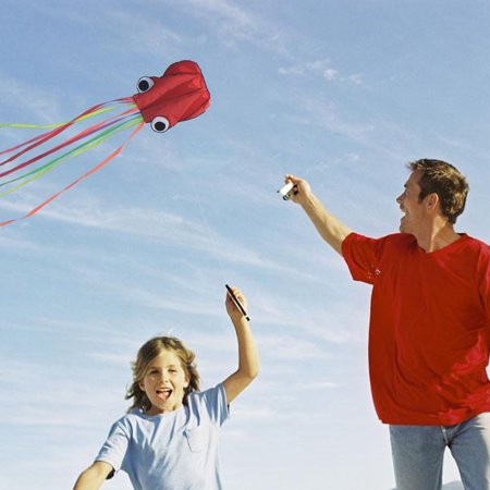 Octopus Kite 4m single Line Stunt Kite Long Tail Outdoor Sport Family Kids (Best Hp Stunt Kites)