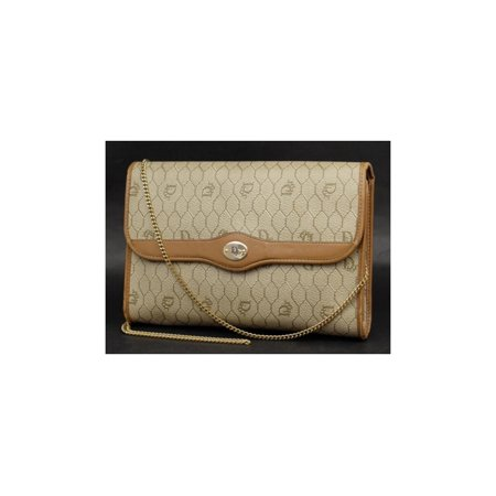 4e6769d3b Dior - Monogram Oblique Signature Trotter Chain Flap 230375 Brown Coated  Canvas Clutch - Walmart.com