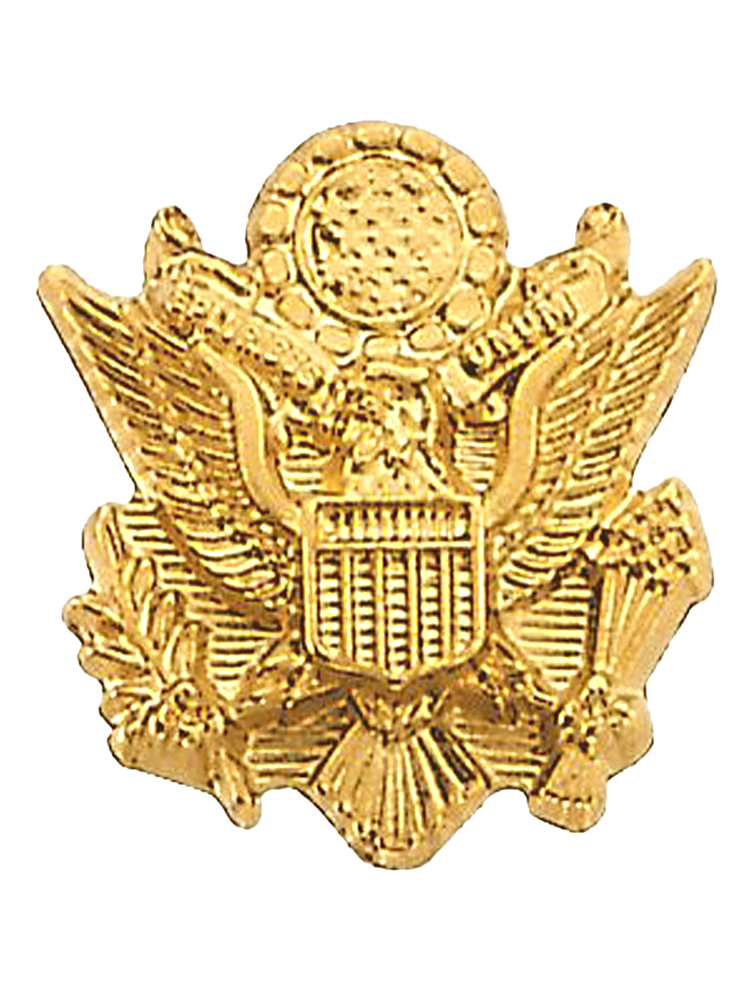 14K Yellow Gold U.S. Army Pin Brooch by