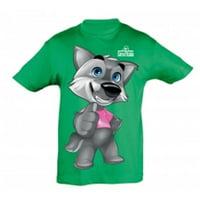 Giro Italia GRWOLFIE10 Junior T-Shirt, Green Wolfie - 10 Years