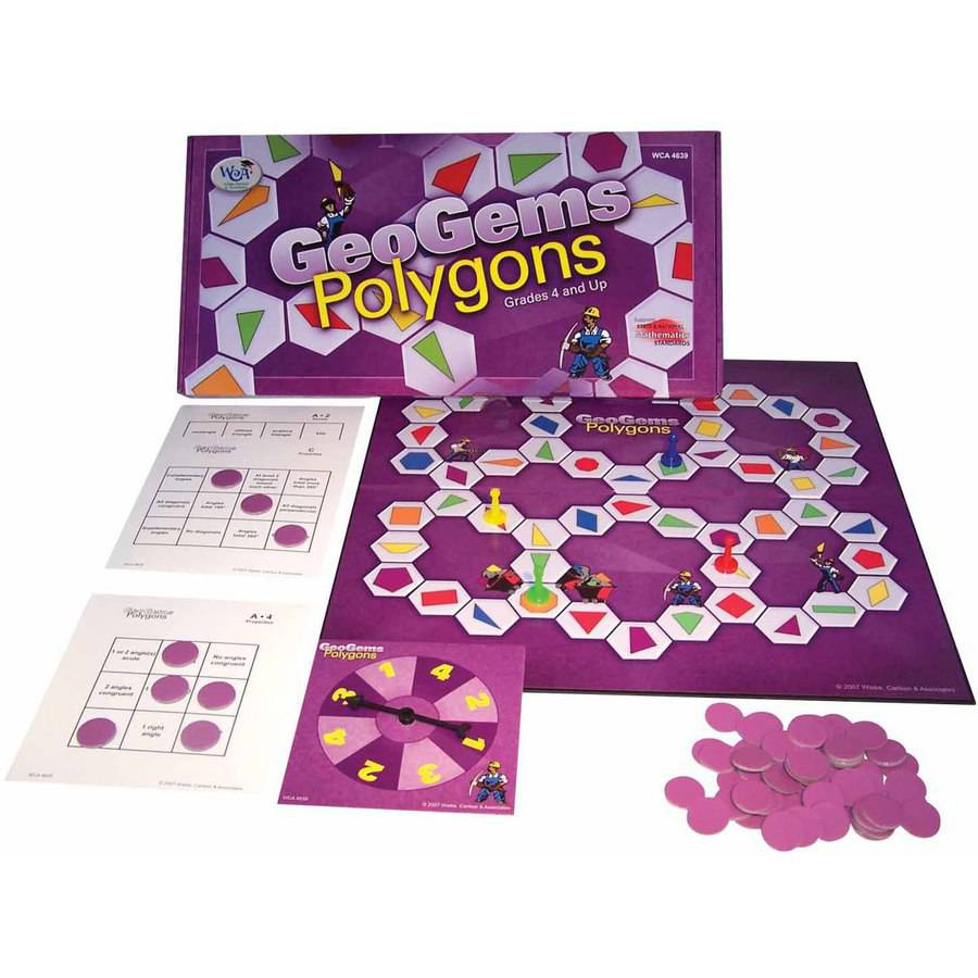 WCA Game GeoGems Polygons, Grades 4 and Up