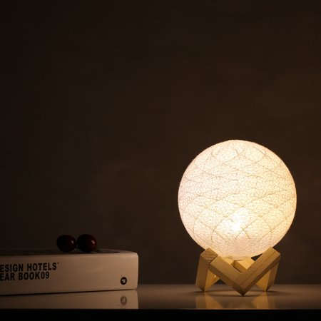 Bedroom bedside creative energy saving night light adjustable modern pastoral romantic birthday gift linen table lamp yellow white light - image 2 of 7