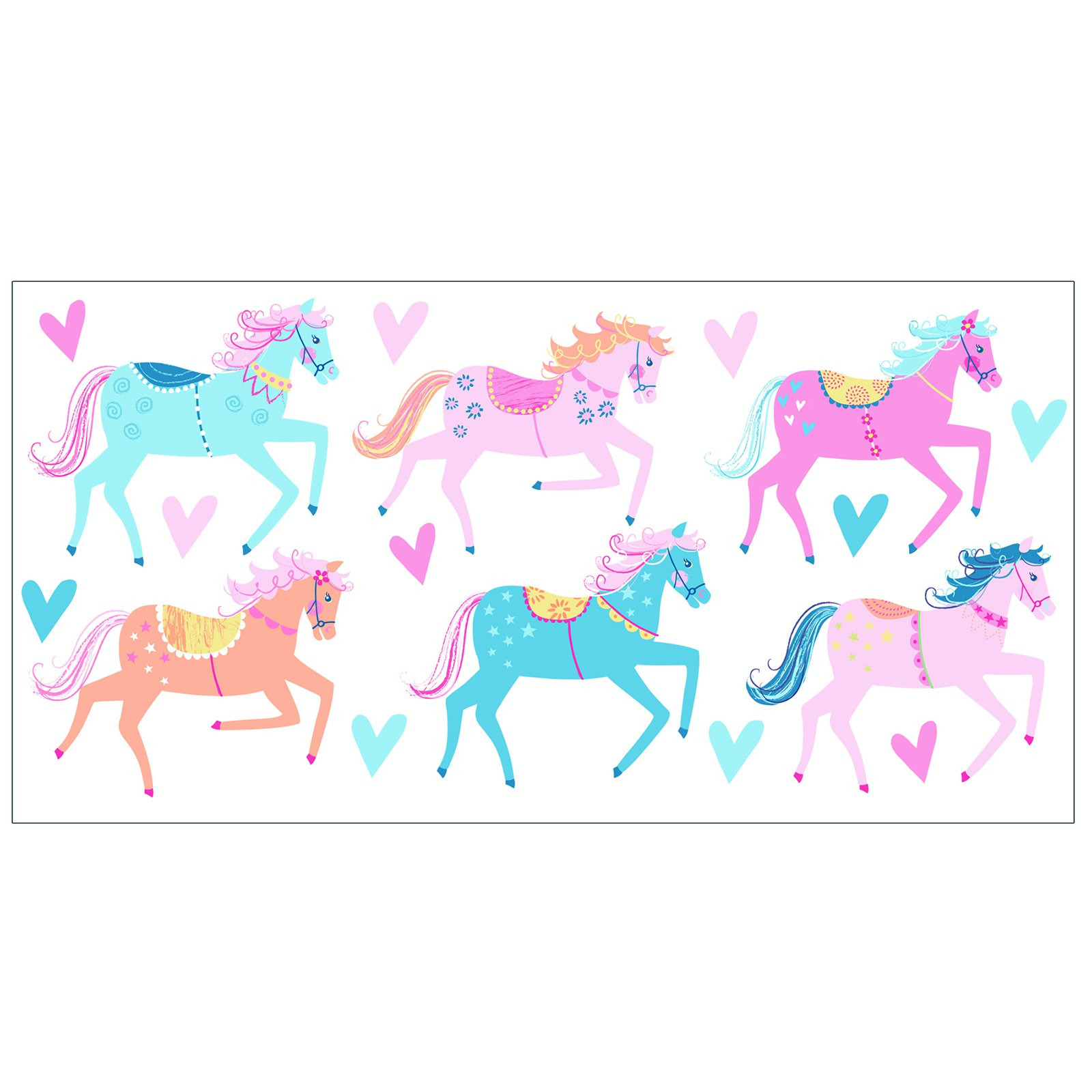 Fun4Walls Carousel Wall Stickers - Set of 34