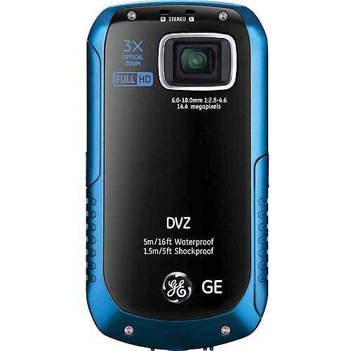 General Electric 14MP HD 3x Camcorder, Ocean Blue