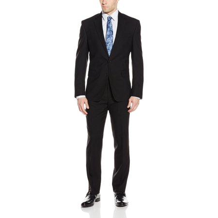 Mens Suit Extreme Solid 2 Button Pleat Wool 44 Solo 360 Mens Suits