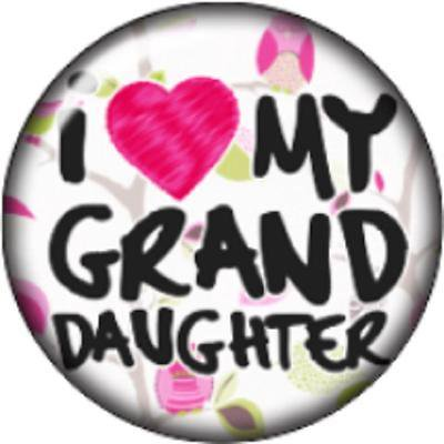 Snap button I love my granddaughter 12mm charm chunk